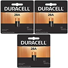 3x Duracell 28A 6V Battery Replacement for V4034PX, 4LR44,PX28A, 476AF, 476A