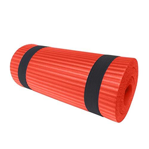 Yocolour Gymnastikmatte für Yoga,Pilates, Fitness, Pilatesmatte,Übungsmatte Sportmatte,Yogamatte rutschfest aus NBR(Orange,60x25x1.5cm)