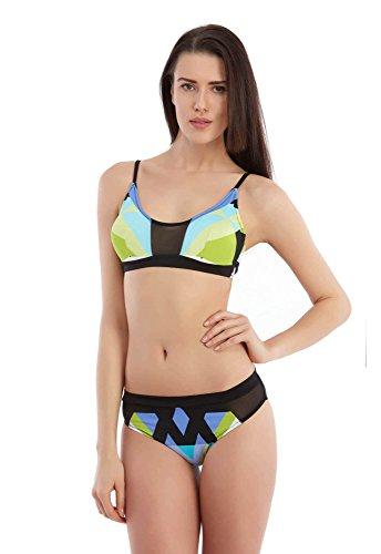 Sunset® Bikini Dames Set Bikini met cups zonder beugel Lycra Ondoorzichtige transparante accenten.
