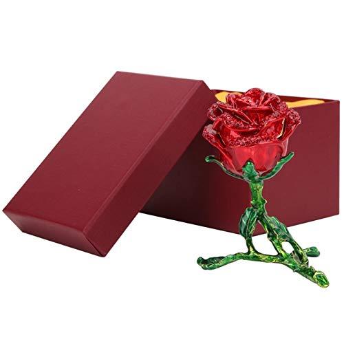 SALALIS Goteo de Aceite Rose Esmalte de decoración con Incrustaciones de Diamantes Vivid Rose para decoración del hogar