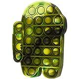 Pop Bubble Fidget It Sensory Fidget Toy Push Bubble,Squeeze Silicone Stress Reliever Toy Tie Dye Green Forest Colors