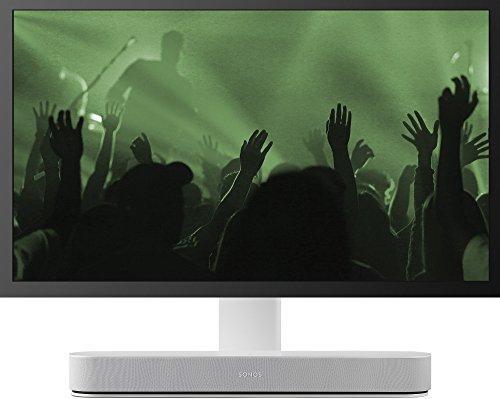 Flexson Justerbart TV-stativ för Sonos Beam – vit, FLXBTVST1011