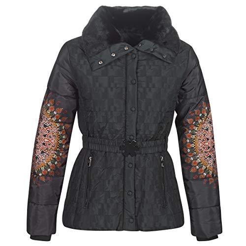 Desigual Coat Aggu Manteau, Noir (Negro 2000), 48 (Taille Fabricant: 46) Femme