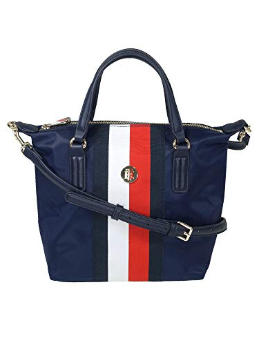 Tommy Hilfiger Damen Handtasche Tasche Henkeltasche Poppy S Tote Blau AW0AW08336