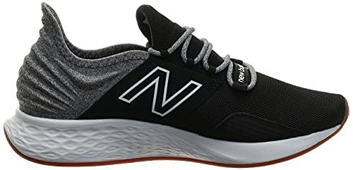 New Balance Men's Fresh Foam Roav Road Running Shoe, Black, 13.5 UK