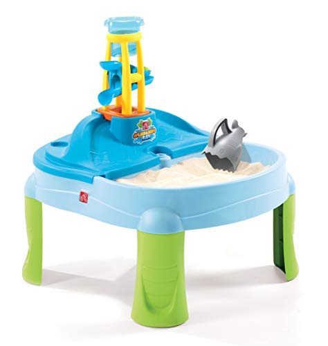 Step2 Splash N Scoop Bay Sand and Water Table, Multicolor, Deluxe Pack: Includes 7 Piece Accessory Set