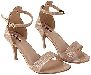 Do Bhai Women Material Synthtic Stylish Fashion Heel Sandal HN-1535-Cream-EU