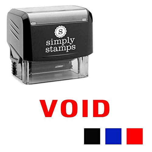 Void Self-Inking Stamp with Pre-Installed Ink Pad - Ergonomic and Compact Stamp Body - 3 Colors