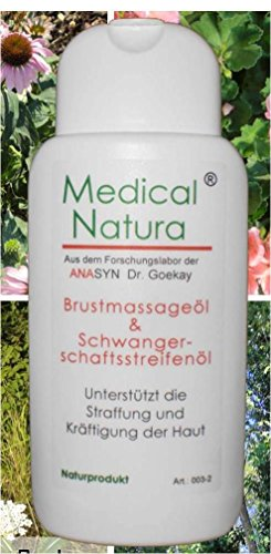 100ml Brustmassageöl und Schwangerschaftsstreifenöl, Hautpflege und Hautstraffung nach der Geburt. Naturprodukt.