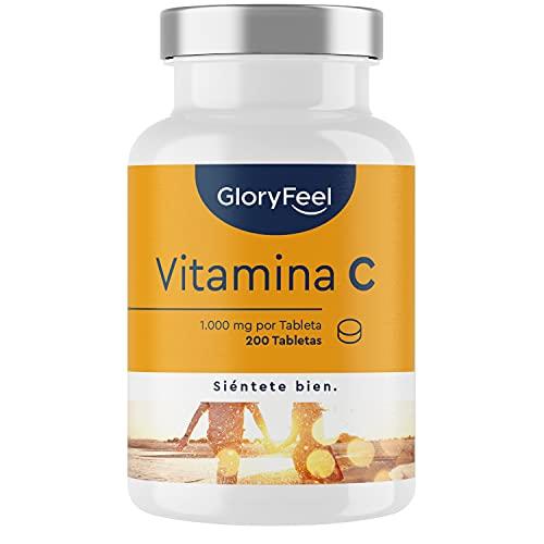 Vitamina C 1000 mg - Suministro para 7 Meses - Solo 1 Tableta al Día - Vitamina C Pura mejora el sistema inmunológico y Reduce el cansancio y la fatiga - Sin aditivos