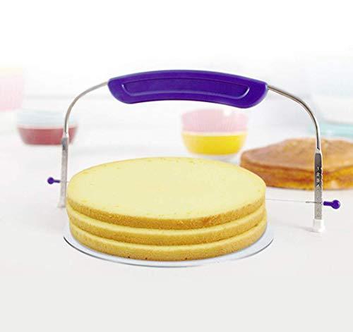 YOUYUE Kuchenwerkzeug Kuchenschneider Messer Kuchenschneider Edelstahl verstellbare Kuchensäge Brotschicht