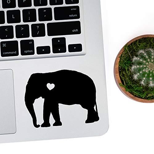 DKISEE Laptop Aufkleber indischer Elefant mit Herz fur Auto Laptop Vinyl Aufkleber Graffiti Stosstangen Aufkleber fur Teenager Madchen Frauen 127 cm 5 Zoll
