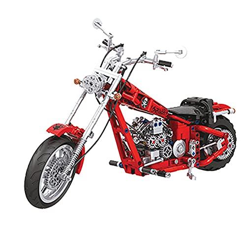 WANGCHAO Conjunto de Motocicletas técnicas, 568 PCS Modelo de Motocicleta de Crucero Moderno, Bloques de construcción compatibles con la técnica Lego (36.8x20.2x14.2 cm)