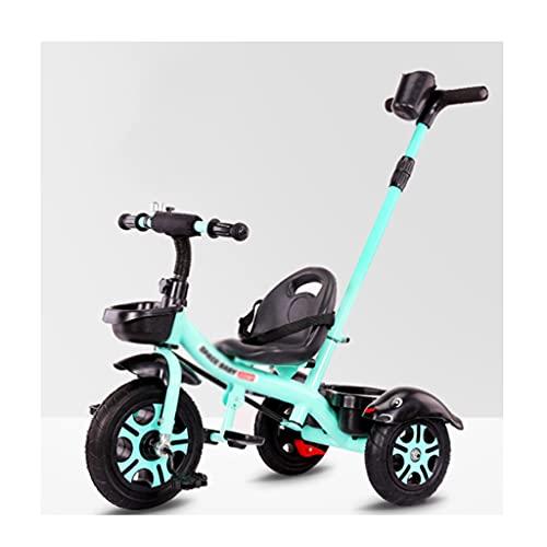 jiji sillas de Paseo Cochecito Triciclo 1-5 años de Edad Bicicleta bebé cochecitos Infantil Bicicleta niño Cochecito bebé Carro de bebé Coche Cochecito de bebé (Color : Mint Green (Upgrade))