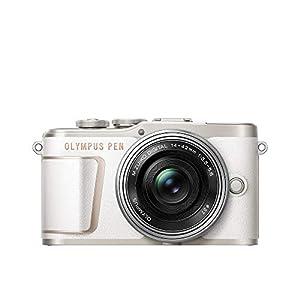 """OLYMPUS ミラーレス一眼カメラ PEN E-PL10 14-42mm EZレンズキット ホワイト"""""""
