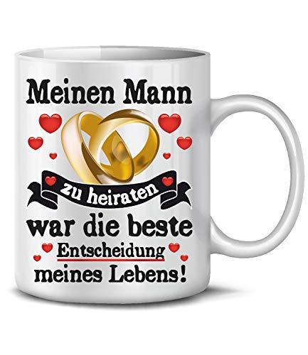 Golebros Meinen Mann zu heiraten 6373 Tasse Becher Kaffee Pärchen Partner Geburtstags Hochzeitstag Jahrestag Paare Frau Kaffeebecher kaffeetasse verliebt Weeding Love Liebe