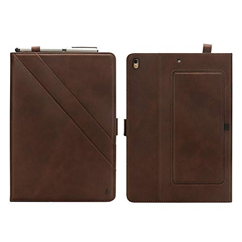wangqianli For IPad Air (3rd Gen) 10.5 Inch 2019 / IPad Pro 10.5 Inch 2017 Premium PU Leather Double Stand Tablet Case With Auto Sleep/Wake Function Cover (Color : Dark Brown)
