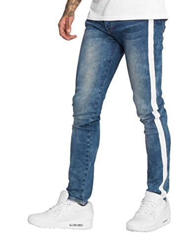 Sixth June Herren Slim Fit Jeans Pekka blau W 36