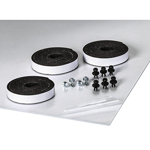 Xavax Unterbau-Abdeckung für Waschmaschinen und Spülmaschinen (60x0,3x60cm, Kunststoff) Abdeckplatte transparent