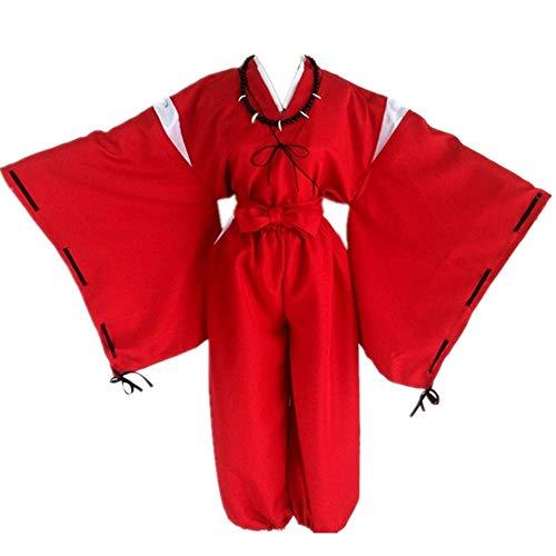 CHANGL Anime Inuyasha Novedad Cosplay para Trajes de Fiesta Trajes Uniformes de Kimono japonés con Accesorios para exposiciones de Anime