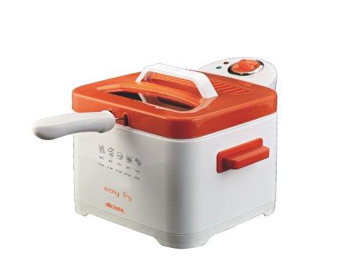 Ariete Easy Fry - Freidora (0,7 kg, Solo, Naranja, Color blanco, Stand-alone, 2000W, 220-240V)
