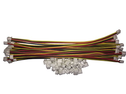 3 PIN Micro JST ZH 1.5mm Pitch 100mm Cables 5 PAIRS