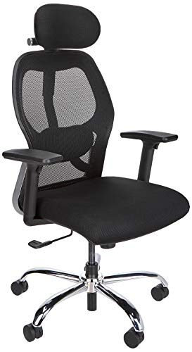 Amazon Brand - Solimo Deluxe High Back Mesh Office Chair (Black)