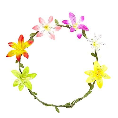 NET TOYS Accessoires pour Cheveux Fleur d'hibiscus | Couronne de Fleur | Accessoires pour Cheveux Fleur d'hibiscus | Coiffure hawaïenne