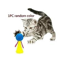 2020新しいぬいぐるみボール猫のおもちゃインタラクティブペット機能猫のおもちゃキャット遊ぶボールのおもちゃベル猫用ペット-1PCS-