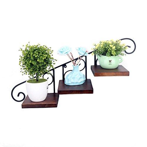 WLH- Creative muur Flower Frame ijzeren muur Hangende Bloempotten Balkon Opknoping Muur Frame Planken Planken Decoratief Frame (65x30cm)