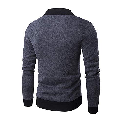 Z&Y Glaa Men Tops Men's Zipper Sweatshirt, Sport Tops Long Sleeve Plaid Cardigan Jacket Soft Coat Outwear Coat for Men Full Zip Sale Autumn Winter Long Sleeve Jacket Lightweight Smart Gray