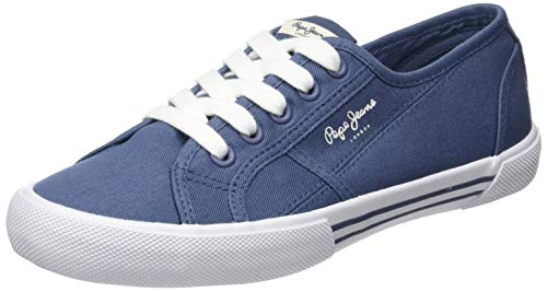 Pepe Jeans London Damen ABERLADY ECO Sneaker, Blau (Pop Blue 570), 41 EU
