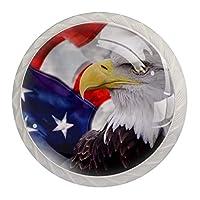 ドレッサー引き出し用キャビネットノブ4キャビネットハンドルホームオフィス用プルプル食器棚イーグルアメリカ国旗