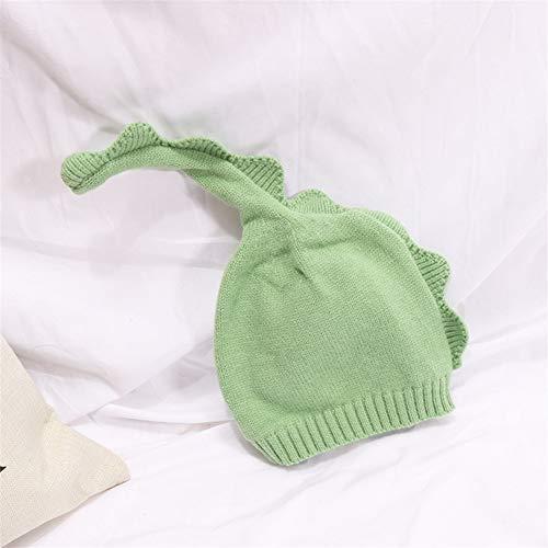 Magnifique Laine Chapeau for Enfants Automne et Hiver New Cartoon Mignon garçon Pointu Chapeau Fille Couvre-Chef bébé Bonnet pour Les Femmes (Color : Light Green, Size : 46-50cm)