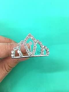 Set of 12 Pc Silver Rhinestone Princess Tiny Tiara / Princesses Theme Party / Cupcake Cake Topper / Breakfast At Tiffany 1