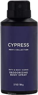 Bath & Body Works Cypress for Men deodorizing Body Spray, 3.7 Ounce