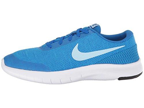 Nike Damen Kinderlaufschuh Girls Flex Run 7 Laufschuhe, Mehrfarbig (Cobalt Blaze/Cobalt Tint/Blue Hero/White 402), 38.5 EU