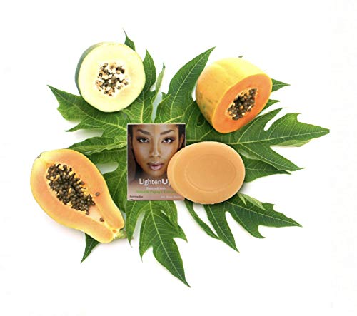 LightenUp Papaya Soap (100g) - Natural Brightening with Shea Butter, Coconut Oil and Papaya Enzymes