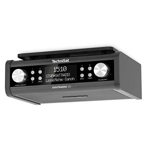 TechniSat DIGITRADIO 20 – Modernes & kompaktes DAB+ Küchen- & Badezimmerradio (Empfangstarkes UKW Unterbauradio mit Uhr)