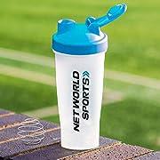 FORZA 700ml Protein Shaker Bottle - BPA Free Sports Drink Shaker Bottle with Non-Leak Cap (Black, Pack of 1)