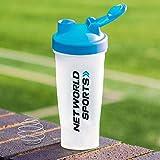 FORZA Bouteille Shaker Protéines de 700ml   Gourde Nutrition pour Sports (Bleu, Lot de 1)