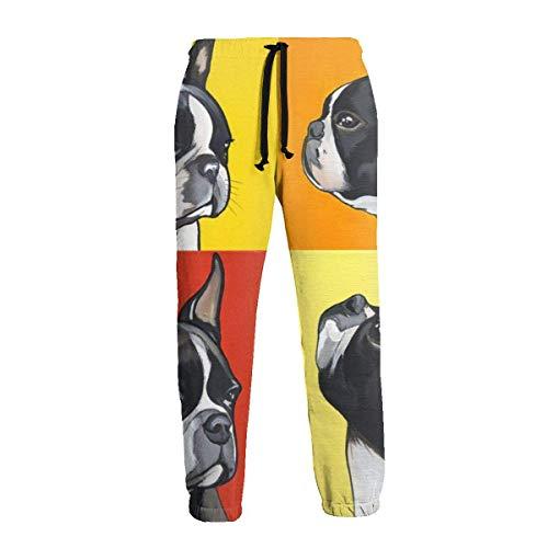 AEMAPE Pantalones Deportivos para Hombre Pantalones Casuales Bulldog francés Pantalones Deportivos Suaves y cómodos Pantalones Deportivos