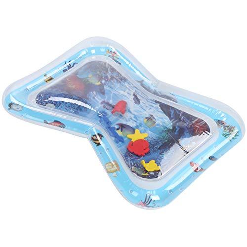 Alfombrilla Plegable para Juegos de Agua para niños, Interesante cojín de Agua Inflable para niños de PVC, fácil de inflar bajo el Agua en casa para niños, bebés(Whale)