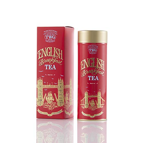 TWG Tea | English Breakfast Tea. Miscela di tè nero in foglia, in un'elegante scatola di latta Haute Couture Tea Tea. Confezione regalo da 110 g
