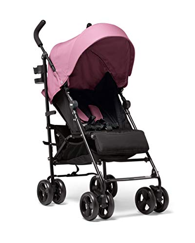 Mamas & Papas Cruise Practical Folding Pushchair Buggy with Front Suspension Wheels, Adjustable Lie Flat Seat and Large Protective Hood - Rose Pink