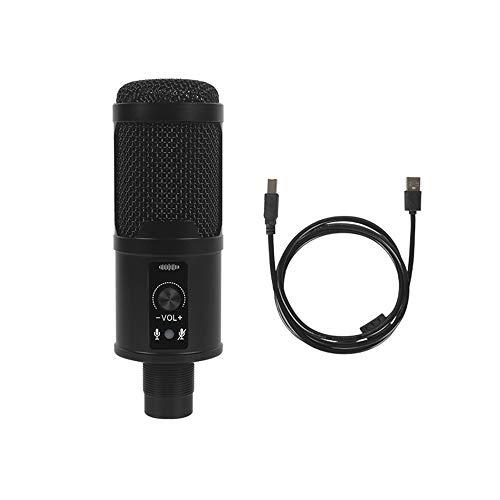 Microfone USB com fio Microfone condensador com cabo USStarightB, usado para computadores, laptops, streaming em tempo real, gravação de música, bate-papo online, canto