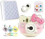 CLOVER Accessory Bundles Set (Crystal Case/Album/Close-Up Lens/Filter) for Fujifilm Instax Mini KT Instant Camera