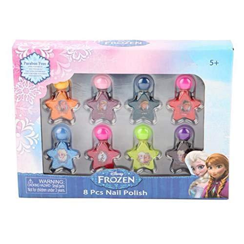 Blue-Yan Maquillaje de Juguetes para niñas, Juego de Esmalte de uñas Princesas Disney para niñas, Juego de Esmalte de uñas Lavable no tóxico para niñas - 8 Colores