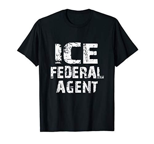 ICE Federal Agent Halloween Costume Police Immigration T-Shirt