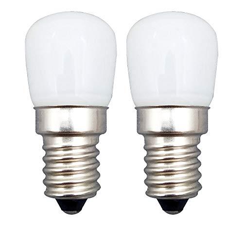 KingYH 2 Stück E14 LED Lampe 2.5W E14 LED Birne Kühlschrank Licht Warmweiß 3000K Ersatz 25W Halogenlampen Dimmbar 360°Abstrahlwinkel für Kühlschrank und Dunstabzugshaube [Energieklasse A++]